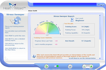 Click to see a larger picture of Stress Sweeper report screen